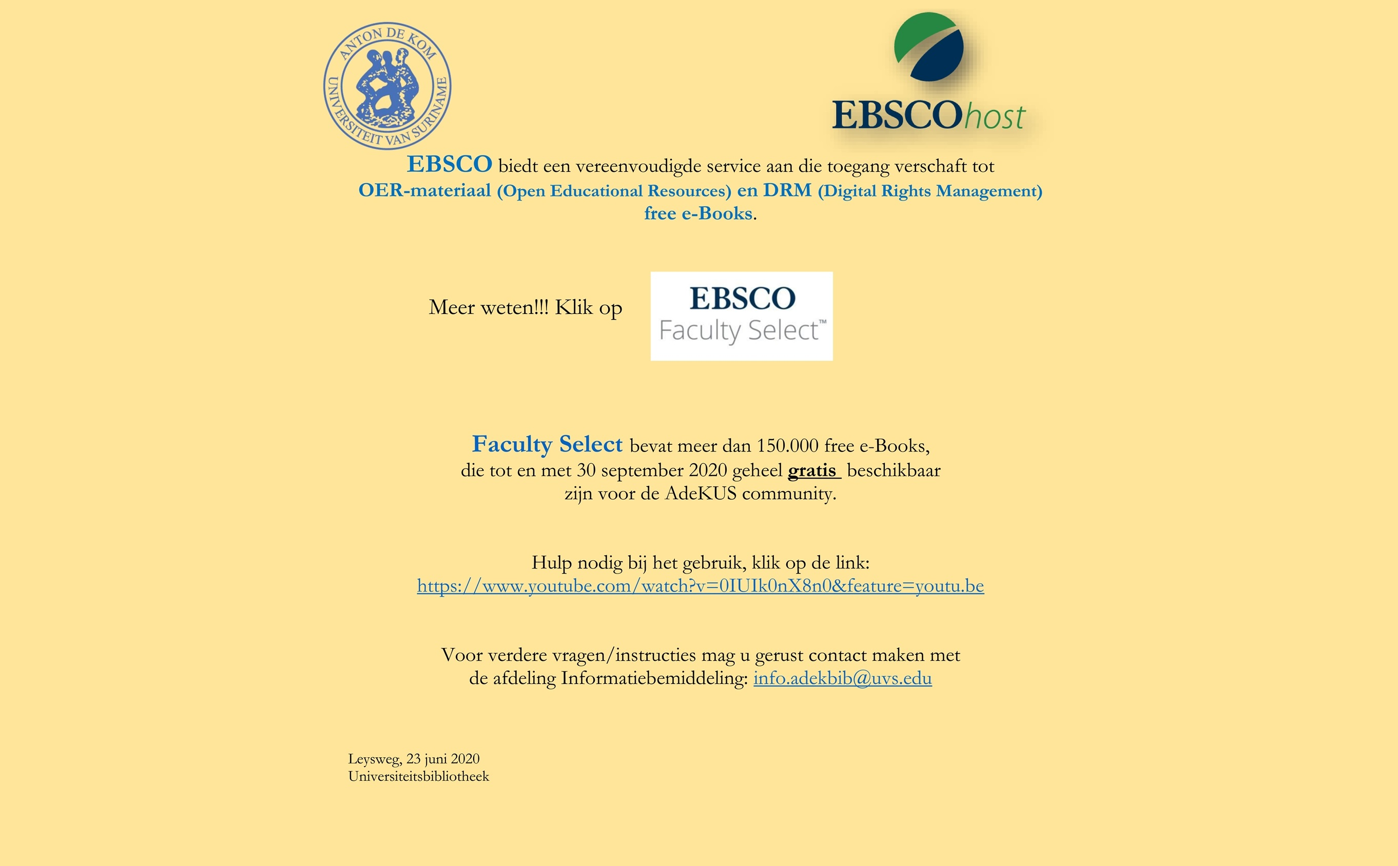Click on EBSCO Faculty Select --->